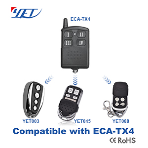 YET wireless RF remote control compatible ECA-TX4