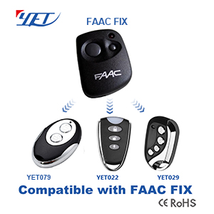 YET wireless RF remote control compatible FAAC FIX